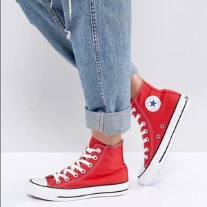 Red Women's Chuck Taylors High Top Size 13.5